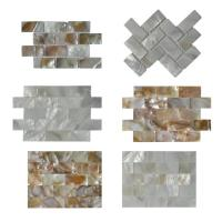 Contemporary Unique 3D Shell Mosaic Tile Patio Table Mosaic 2mm Thickness