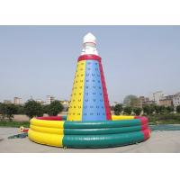 China High Safety Inflatable Rock Climbing Wall , Inflatable Interactive Games UV Protective on sale