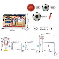 Buy cheap 3 In 1 Portable Kids Soccer Goal with Basketball Hoop Kit indoor outdoor games from wholesalers