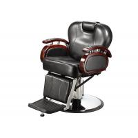 Buy cheap Reclining Backrest Salon Barber Chair Brown With PU Leather Materials 48.5 KGs product