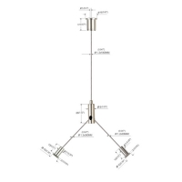 Buy cheap Y Fits Cable Hanging Kits Copper Plated Nickel For LED Panel Lights YW86035 product