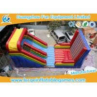 Buy cheap Slide And Castle Sticky Wall Combination Inflatable Sport Games For Kid And Adult product
