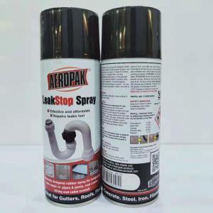 Buy cheap Black Leak Liquid Sealer Aerosol Spray Paint Sealant Coating 400ml Filled product