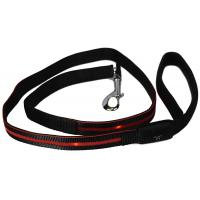 Buy cheap Reflective LED Light Dog Leash Soft Padded Handle For Safety Comfort product