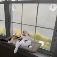 China Sunny Window Mounted Pet Beds For Cats , Washable Cover Comfortable Cat Hammock on sale