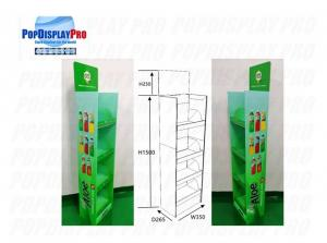 Buy cheap Beverage Drinks Floor Shelf Pop Up Display Stands 5 Tiers 76kgs Holding Capacity product