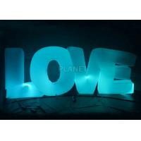 Buy cheap Wedding Inflatable Lighting Decoration Love Led Letter Balloon For Stage product