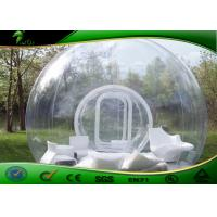 Buy cheap Professional Inflatable Transparent Tent With Two Tunnels Bubble Hotel Rooms product