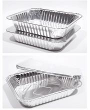 Buy cheap Silver Aluminum Foil Loaf Pans , Disposable Aluminum Baking Pans With Lids product