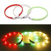 Buy cheap Christmas Pattern Light Up LED Safety Collars For Dogs Comfortable To Wear product