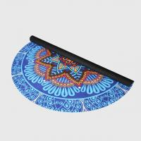 Buy cheap Custom floral print natural rubber suede microfiber surface round circle yoga mat for fitness from wholesalers