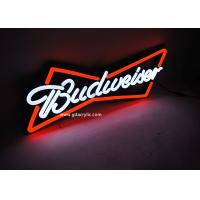 Buy cheap Ultrathin Soft Strong Budweiser Illuminated Neon Signs, Out-door / Indoor Neon from wholesalers