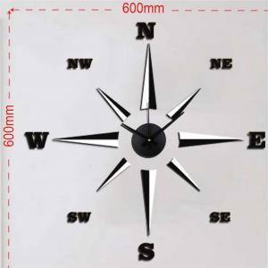 China EVA fashion wall clock, sticker clock cheap for sale on sale