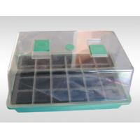 Buy cheap PP / PS Garden Mini Greenhouse Plastic Seeds Propagation Nursery Pots with Breeding Tray for Kits product