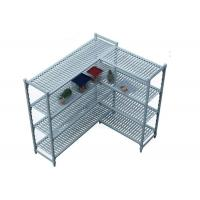 Buy cheap Durable Heavy Duty Plastic Shelving Vented / Slotted Angle Shelving Rust - Proof product