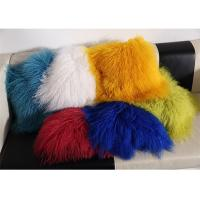 Buy cheap Red / Blue 18 Inch Long Sheep Fur Pillow , Mongolian Fur Outdoor Throw Pillows  product