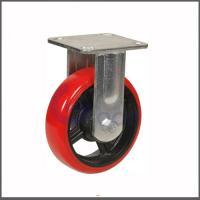 High Quality Factory Supplied Polyurethane Material 95 Shore A red polyurethane swivel caster wheel