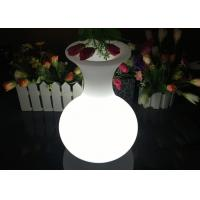 Buy cheap Rechargeable Lighting Vase LED Flower Pots For Table Service , 16 Colors Changing product