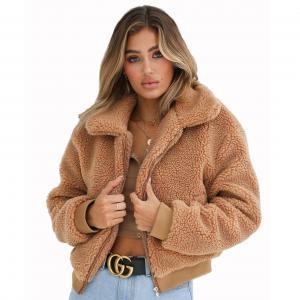 Buy cheap Wholesale 2018 fashion sexy women turn-down collar winter warm woolen coats from wholesalers