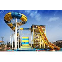 Buy cheap Outdside Giant Boomerang Fiberglass Water Slide For 6 Person , Water Park Tower from wholesalers