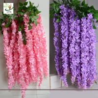 Buy cheap UVG WIS006 Indoor cheap fake flowers with silk wisteria for home decoration product