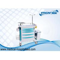 Buy cheap ABS Hospital Emergency Trolley With I . V . Pole , Medical Crash Cart With Handles To Move product