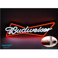 Buy cheap Custom Budweiser Beer Logo Neon Lights Signs for Outdoor / Indoor from wholesalers