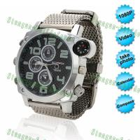 Buy cheap 1080P waterproof HD spy watch Camera Night Vision with compass from wholesalers