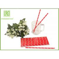 Buy cheap Cute Design Red And White Party Paper Straws For Hot Drinking Diameter 6mm product