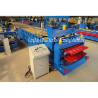 Buy cheap Automatic Steel Metal Glazed Step Tile Making Machine 0.3-0.6mm thickness product