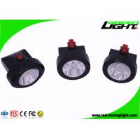 Buy cheap Msha Approved Cordless Mining Cap Lights , Portable Black Miner Lamp with 15 Hours Lighting Time product