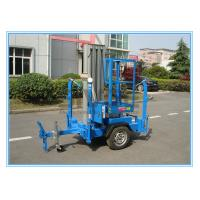 Buy cheap Vertical Aluminium Alloy Truck Mounted Man Lift , Single Mast Electric Boom Lift product