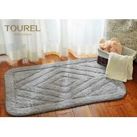 Buy cheap 100% Solid Color Jacquard Hotel Bath Mats / Cotton Towel Bath Mat product