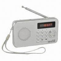 Buy cheap Rechargeable Portable FM Radio/MP3 Player with LED Digital Multifunction Display product