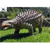 Buy cheap Life Size Animatronic Dinosaur Realistic Resin Waterproof Ankylosaurus Display product