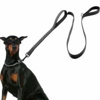 Buy cheap 2 Handles Nylon Dog Leash 6 FT Long For Extra Control Reflective Stitch product
