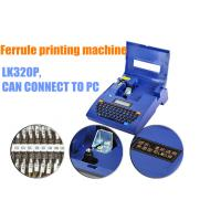 Buy cheap portable cable id Electronic Lettering Machine 300dpi black / blue/ electric /Machinery product