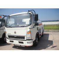 Buy cheap 4x2 91HP Fuel Transport Trucks , Six Wheels 6000 Litres Gasoline Tanker Truck product