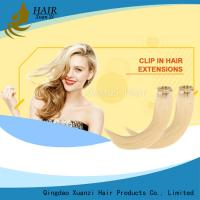 Buy cheap Wholesale Premium 100% Human Hair Remy Cheap Double Drawn 100% Human Hair Clip In Hair Extension from wholesalers