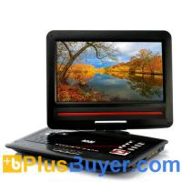China 12.1 Inch Screen Region-free DVD Player with Analog TV (270 Degree Swivel Screen, Copy Function) on sale