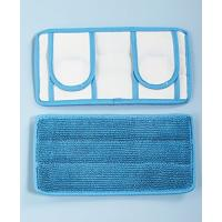 """Buy cheap Set of 2 REUSABLE MOP PADS,11"""" Microfiber Wet Mop Pad ,Blue Twist Pile with from wholesalers"""