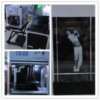 China Custom 3D Glass Engraving Machine , Glass Etching Equipment High Stability on sale