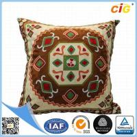 Buy cheap Washable Home Decorative Throw Pillow Covers for Sofa or Bed Red / Dark Brown / Buff / Gray product
