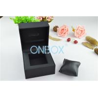 Buy cheap Single Men'S Watch Display Luxury Watch Box Fine Black Touch Paper With Soft from wholesalers