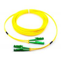 Quality Single Mode Fiber Optic Patch Cord Duplex G652D 9 / 125 Yellow With E2000 Connector for sale