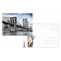 Buy cheap Custom Lenticular Postcard Printing 3d Depth New York City 4x6 Inch EU Standard from wholesalers