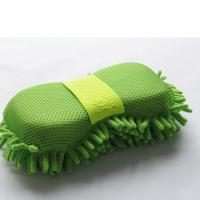 Buy cheap Microfiber Car Wash Sponge With Mesh And Wrist Band Chenille Car Wash Sponge Pad product