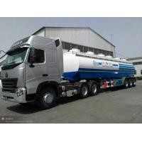 China 30m3 water tank semi trailer, 3 axles, loading 30t, 3-4 departments, can equip with a pump, carbon steel on sale