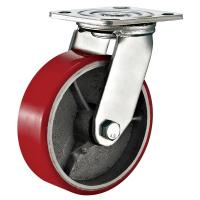 Buy cheap Red Heavy Duty Swivel Plate Caster Wheel / 6 Inch Caster Wheels Polyurethane On Iron product