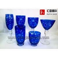 Buy cheap engraved glasses, 6 shapes, cobalt, tableware, product